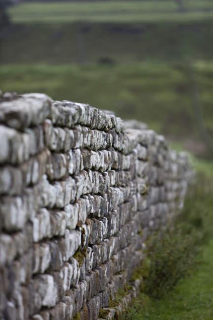 Parede de pedra seca — Fotografia de Stock