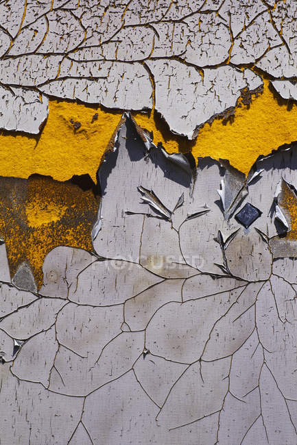 Peeling and cracked paint — Stock Photo