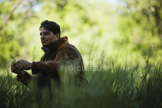 Man looking thoughtful and contemplative. — Stock Photo