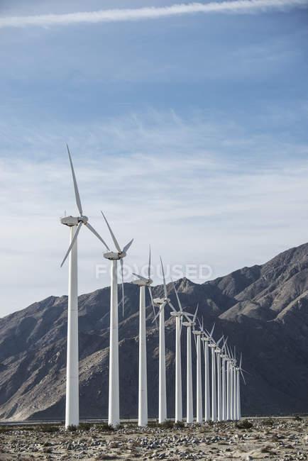 Wind power turbines — Stock Photo
