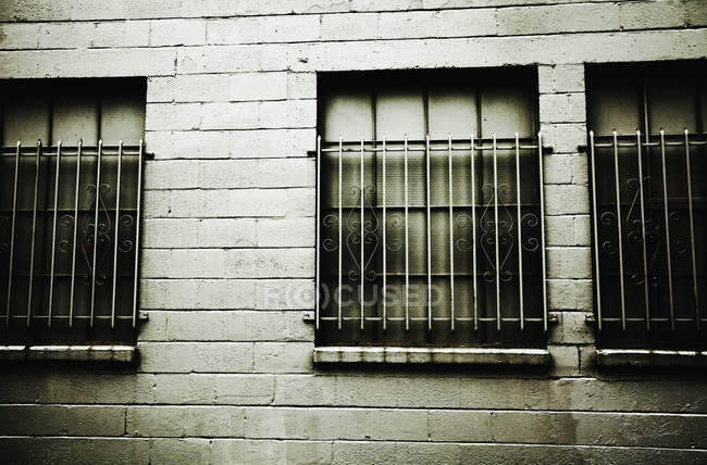 Secure windows with bars. — Stock Photo