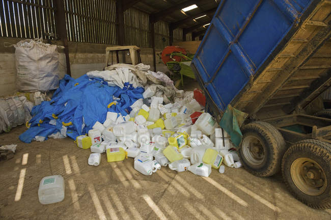Heap of plastic recycling — Stock Photo
