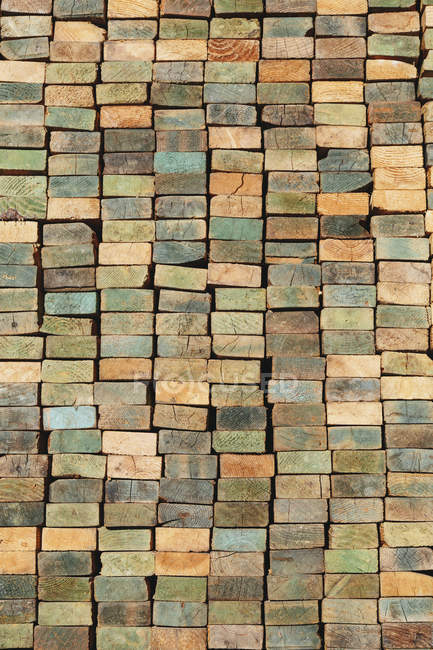 Stack of wood stud boards — Stock Photo