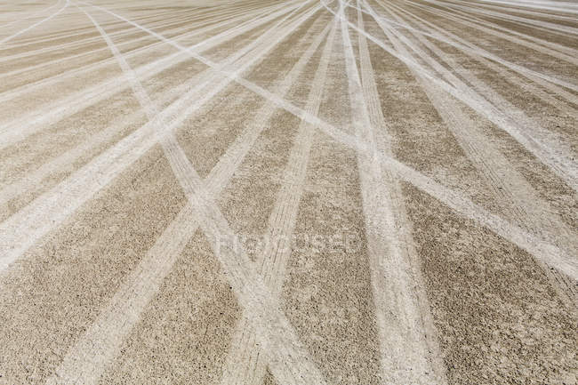 Tire tracks in Black Rock Desert. — Stock Photo
