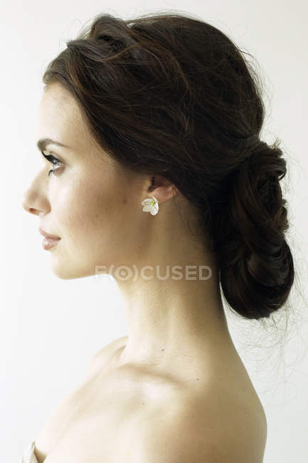 Woman with brown hair — Stock Photo