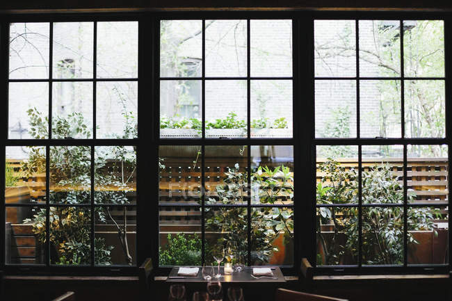 Vista interior do restaurante — Fotografia de Stock