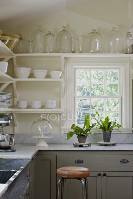 Traditionally built and furnished farmhouse — Stock Photo