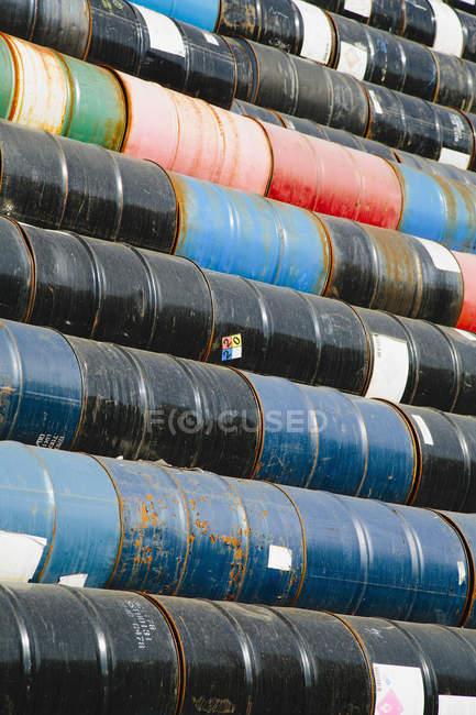 Barris de óleo colorido — Fotografia de Stock