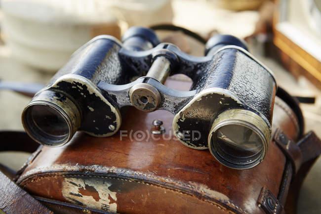 Pair of vintage binoculars — Stock Photo