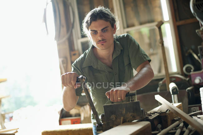 Man at construction site — Stock Photo