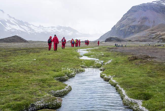 Personas caminando cerca de la bahía de la Fortuna - foto de stock