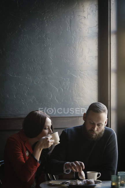 Couple in love on date — Stock Photo