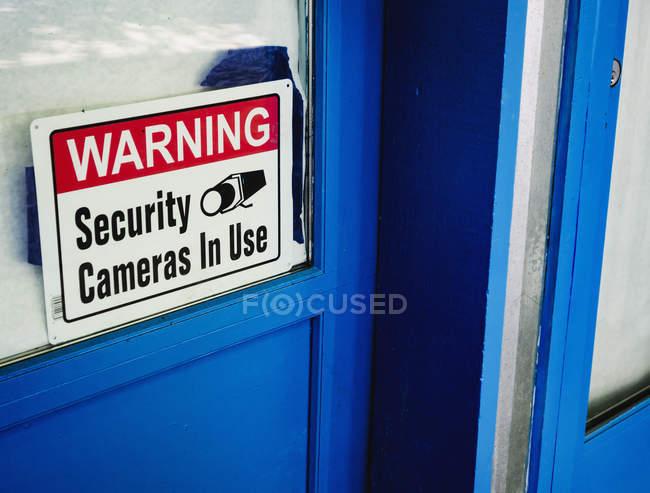 Знак камеры безопасности — стоковое фото