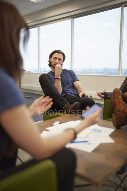 Meeting of work colleagues — Stock Photo