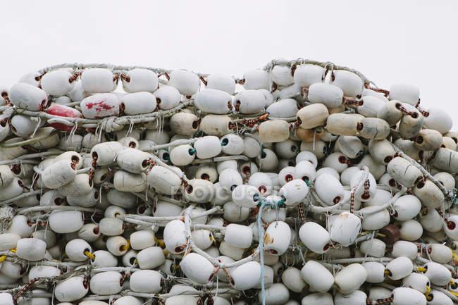 Коммерческие рыболовные сети — стоковое фото