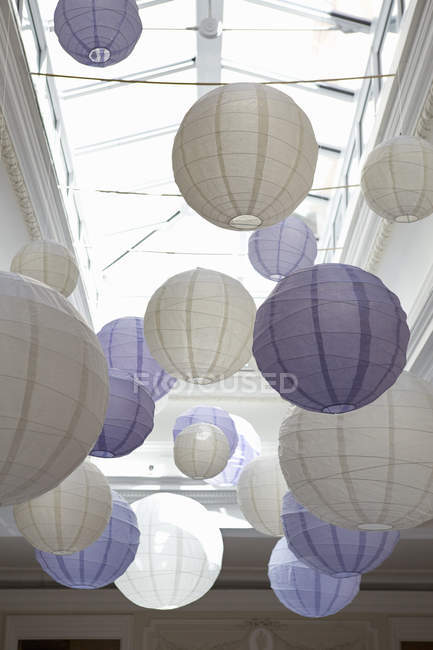 Bamboo paper lanterns — Stock Photo