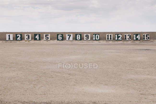 Стрельбище в пустыне — стоковое фото