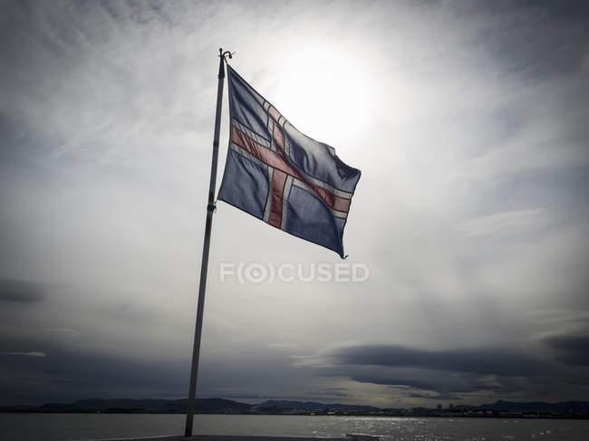 Bandiera nazionale dell'Islanda — Foto stock