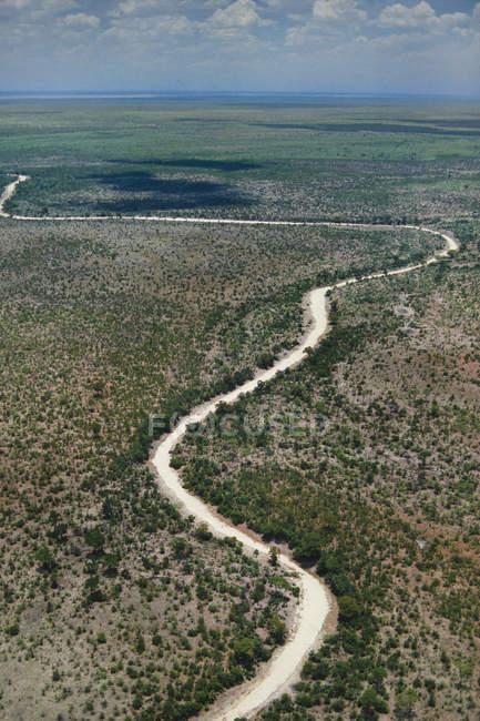 Cama de río seco - foto de stock