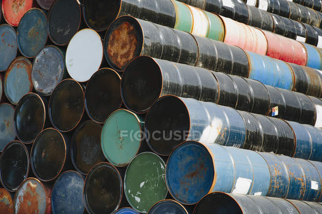 Colorful Oil barrels — Stock Photo