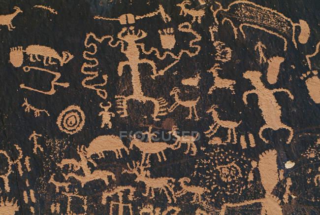 Arte rupestre antichi pueblo — Foto stock