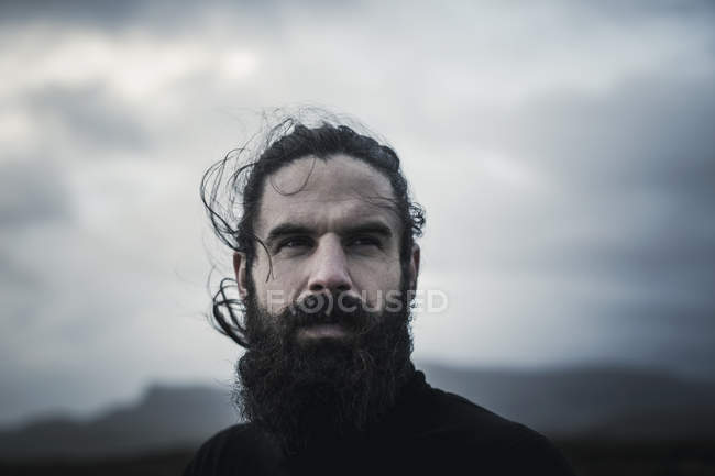 Man with full beard and moustache — Stock Photo