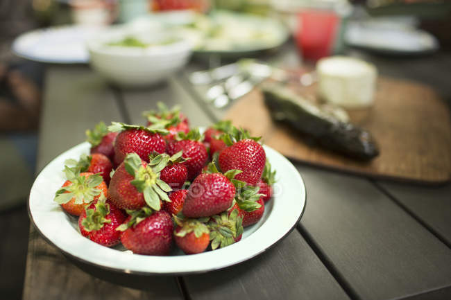 Place of fresh strawberries. — Stock Photo