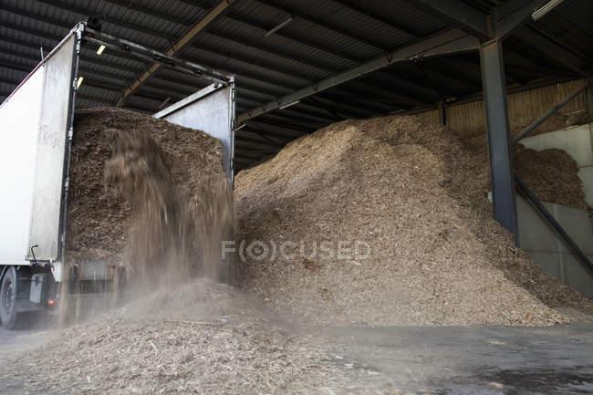 Biomüll gelagert — Stockfoto