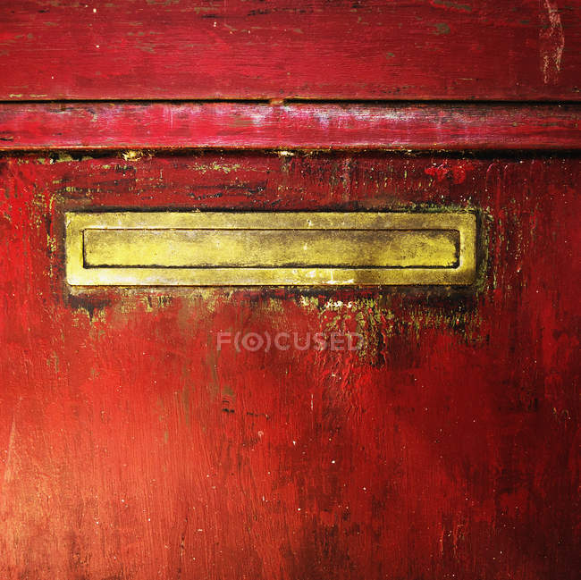 Mail slot in a door — Stock Photo