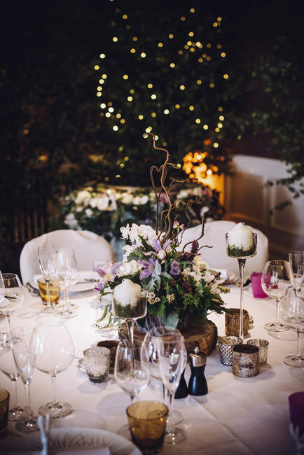 Table laid for special occasion — Stock Photo