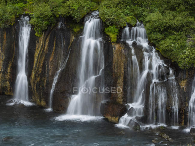 Series of cascading torrents — Stock Photo