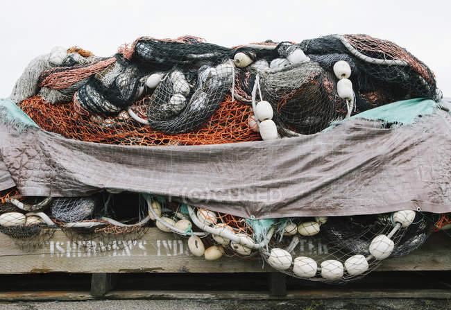 Redes de pesca comerciais — Fotografia de Stock