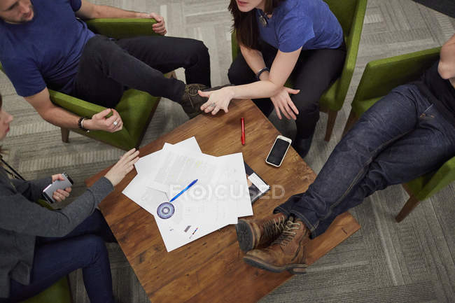 Meeting of four people — Stock Photo