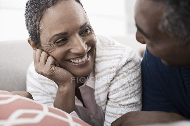 Couple laughing at each other. — Stock Photo