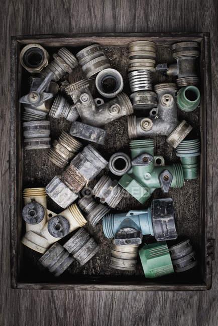 Шайбы и шланг трубы — стоковое фото