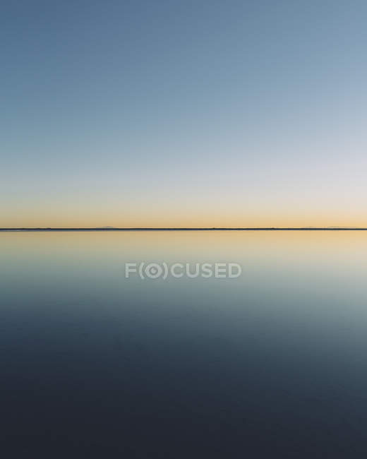 Clear line of horizon — Stock Photo