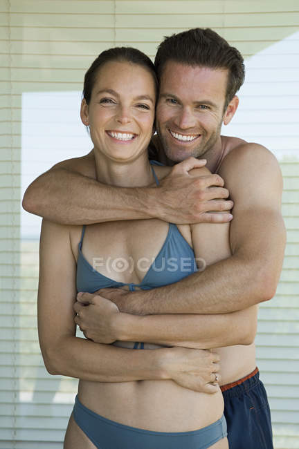 Happy couple at home. — Stock Photo