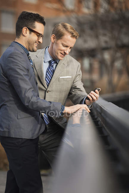 Men in formal business clothes — Stock Photo