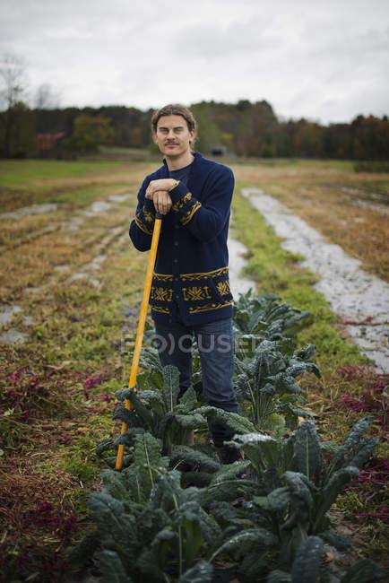 Органический фермер на работе. — стоковое фото
