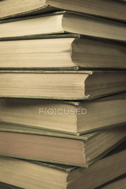 Stack of old hard cover books — Stock Photo