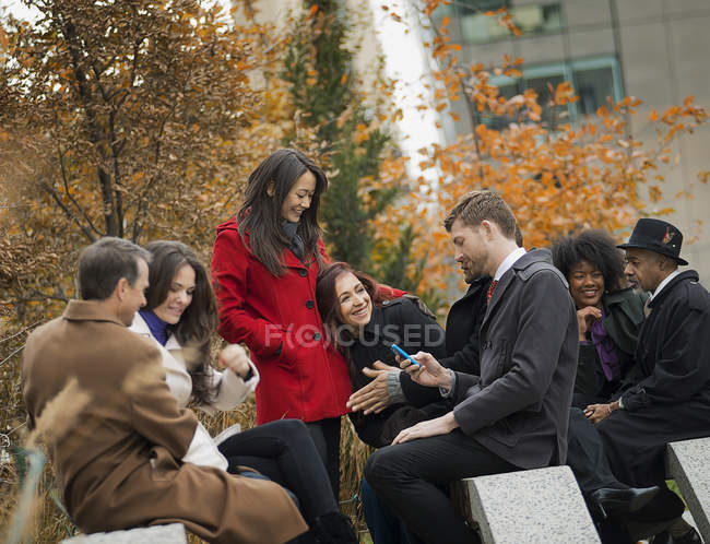 People talking to each other. — Stock Photo