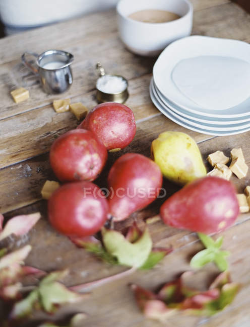 Domestic kitchen tabletop — Stock Photo