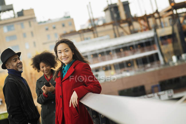 Group of people on the go — Stock Photo