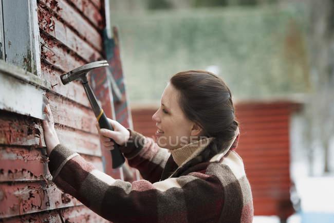 Donna riparazione herpes zoster — Foto stock