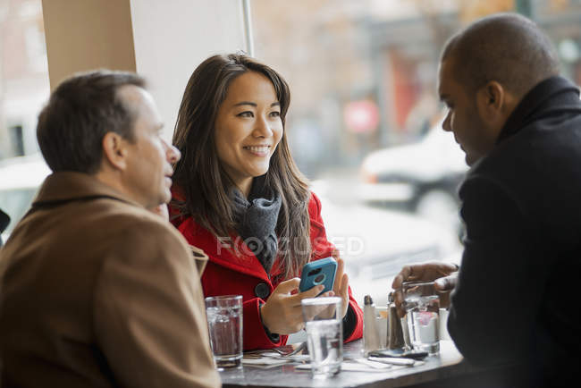 People in a coffee shop. — Stock Photo