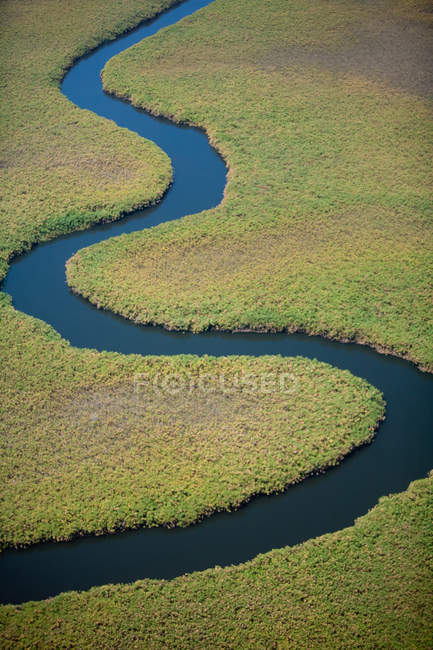 Winding river course — Stock Photo
