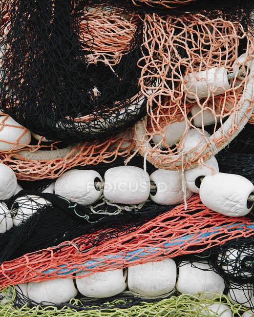Redes de pesca comercial — Fotografia de Stock