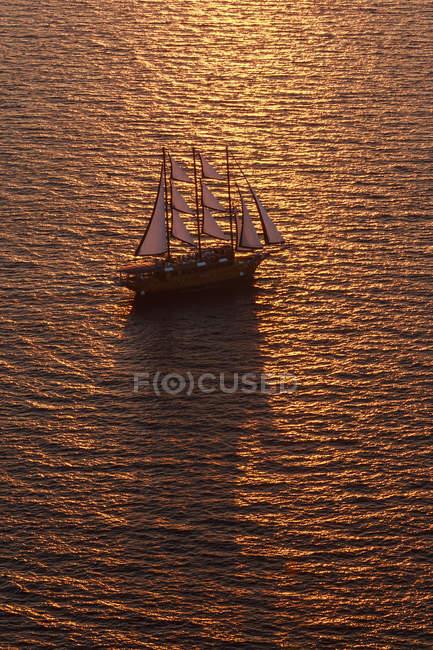 Three-masted sailing ship — Stock Photo