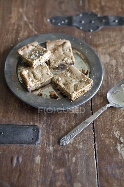 Лоток випічки, торт або печиво — стокове фото
