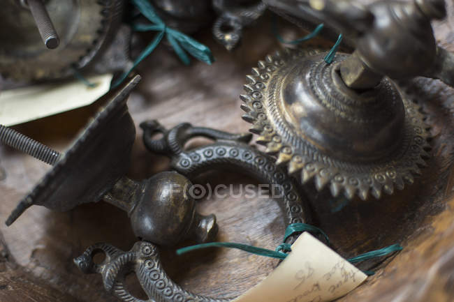 Antique store with a display — Stock Photo